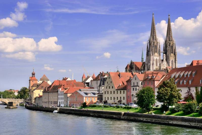Regensburg view from the river